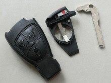 3 кнопки смарт-карта дистанционный Оболочки чехол для mercedes-benz s350 с Батарея Держатели и запасных брелок для ключей крышка