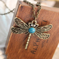 Creative Necklace Women BlueTop(TM) Classic vintage Bronze dragonfly pendant necklace chain Accessories Sexy Chain