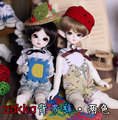 1/6, YOSD BJD SD Doll  clothes green / yellow overalls  for BJD SD DOLL