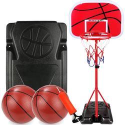 Basket regolabile Rack, Canestro Da Basket Con Il Basamento Tabellone Da Basket Regolabile in Altezza Del Basamento Del Cerchio Set Per I Bambini
