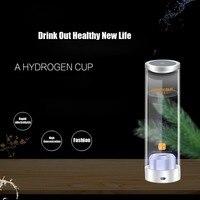 500ML Touch Switch Hydrogen Rich Water Generator Glass USB Rechargeable Water Electrolysis lonizer Alkaline Healthy Cup Bottle