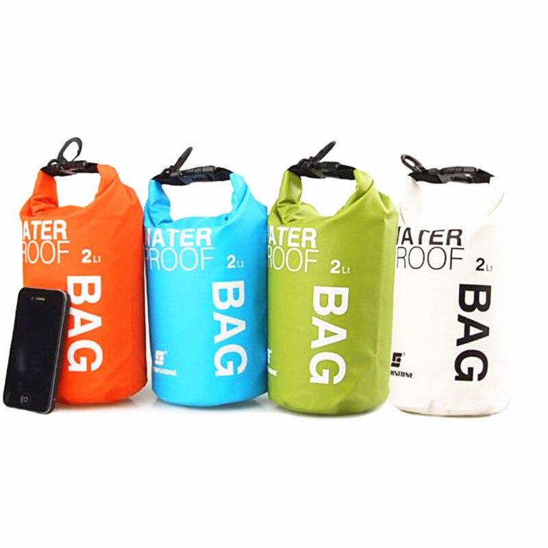 Portable 2L Water Bag Storage Dry Bag for Canoe Kayak Rafting Mobile phone camera #S2