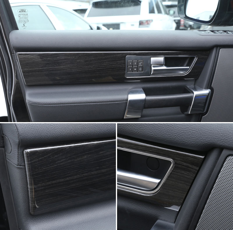 land rover defender 4 door interior. aliexpresscom buy luxury interior molding for land rover discovery 4 lr4 door handle panel cover trim abs dark wood grain 4pcsset from reliable covering defender