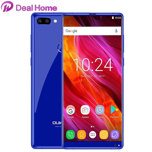 """OUKITEL MIX 2 Smartphone 5.99""""18:9 FHD+P25 6G+64G Octa core 4080mAh Android 7.0 Fingerprint 13MP Dual back len GLONASS cellphone"""