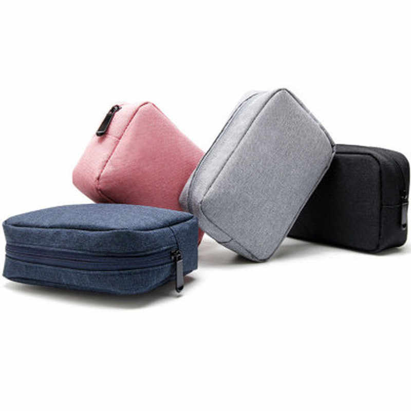 Travel Closet Organizer Case for Headphones Storage Bag Digital Portable Zipper Accessories Charger Data Cable USB Bag