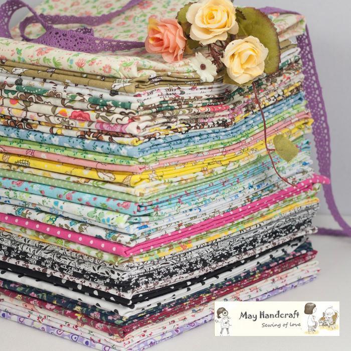 HOT!70Pcs No Repeat Cotton Fabric Tissue,Beautiful Designer Printed Fabrics Textile for Patchwork,100% Cotton,Plain,Thin,20x25cm