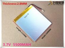 3.7 V 5500 mah batería de la tableta de marca tableta gm Tableta de la batería de polímero de litio 28100115