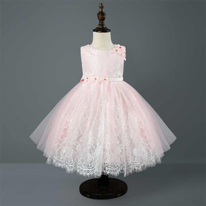 Princess Girl Lace Dress Children Wedding Party Dresses Tutu Kids Evening Gown Baby Frocks Clothes Girl Formal Wear Vestidos children girls pink ball gown vestidos dresses infant kids princess wedding evening party tutu dress baby elegant summer clothes