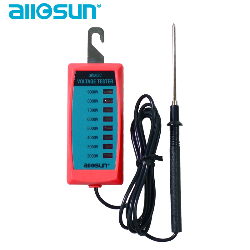 All-sun GK503B GK503C Электрический фотометр 2000 в до 9000 в контроллер забора тестер напряжения без батареи с неоновой лампой