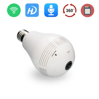 1 PCS 360 Degree Wireless IP Camera WIFI Panoramic Camera 1 3MP Bulb Light Two Ways
