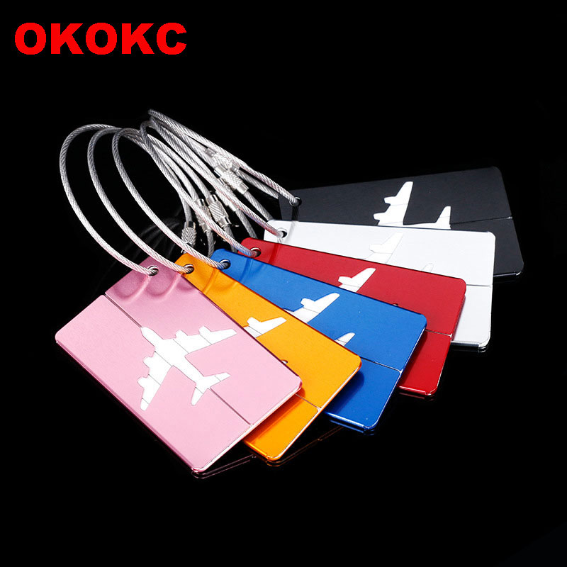 OKOKC Label-Holder Luggage-Tags Travel-Accessories Suitcase Address Aluminium-Alloy