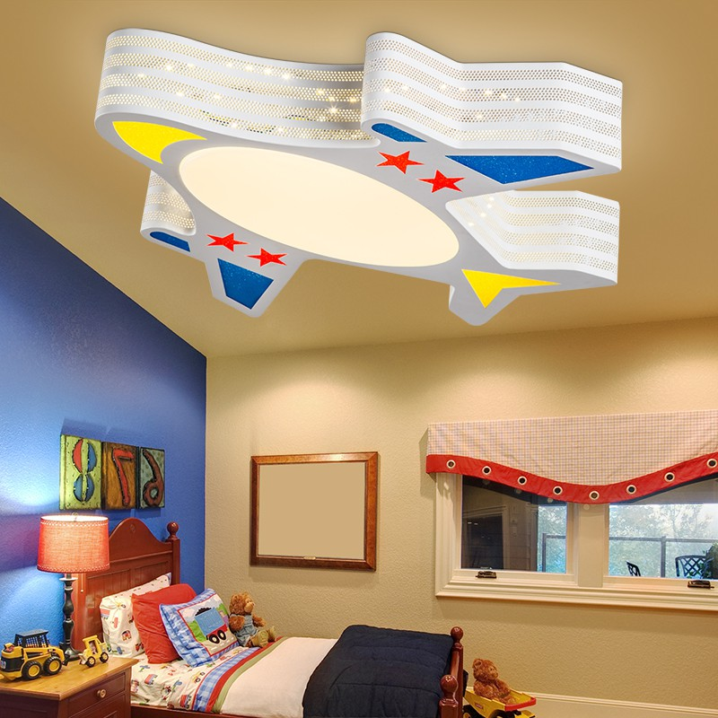 Modern Creative Multi pattern Cartoon LED Aircraft Ceiling Lights For Children Room Bedroom Exhibition Hall Decoration