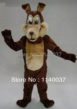 mascot Brown Wolf Coyote Mascot Costume Coyote Adult Size Easter Wild Animal Mascotte Outfit Suit EMS