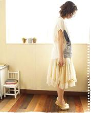 Multi-usage More Girl Irregular Hem Lace Underskirt/Skirt