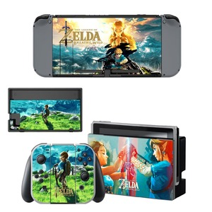 Image 3 - The Legend of Zelda Decal Vinyl Skin Protector Sticker for Nintendo Switch NS Console +Controller + Stand Holder Protective Skin
