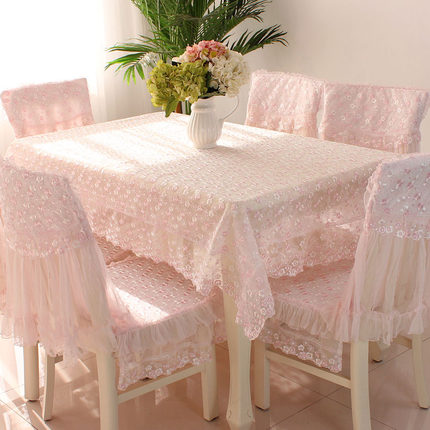 Polyester living room rectangular coffee table tablecloth tablecloth chair cushion chair cover set lace fabric chair cover in Tablecloths from Home Garden
