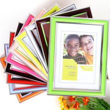 2019 Brand Multi Color Frame High Quality PVC Plastic Picture Frame Home Decoration DIY Photo Wall Table Photo Frame(China)