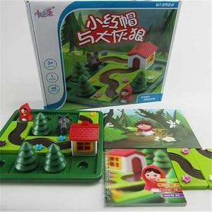 Image 3 - Pouco vermelho equitação capô inteligente iq desafio jogos de tabuleiro quebra cabeça brinquedos para crianças com solução inglês speelgoed brinquedo oyunc51