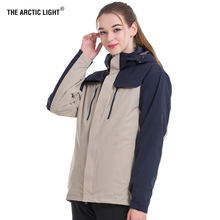 THE ARCTIC LIGHT Women 3 in 1 Winter Fleece Down Jacket Two Pieces Windbreaker Outdoor Sports Hiking Camping Skiing Coats