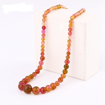 Agate Chain Necklace Natural Grade A Agate Power Crystal Women Jewelry Bead Bts Accessories Boho Bikini Bulldog Choker Choker