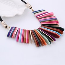 Colorful Beads Choker Necklace For Women