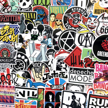 NEW waterproof 60Pcs/Lot World band funny Stickers For Luggage Laptop Bike Motorcycle Phone Car Case Decal Sticker