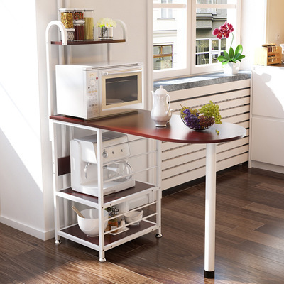 H Creative Microwave Rack Multi Function Oven Storage Dining Table Kitchen Daily Storage Locker Dinnerware Organizer Furniture