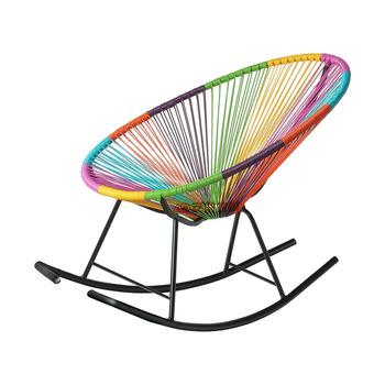 Krzesło plażowe meble ogrodowe żelazko + PE tkane krzesło plażowe moda krzesło bujane meble ogrodowe meble ogrodowe salon de jardin tanie i dobre opinie Ecoz Metal iron Krzesło wędkarstwo 92*72*30cm Plaża krzesło Nowoczesne