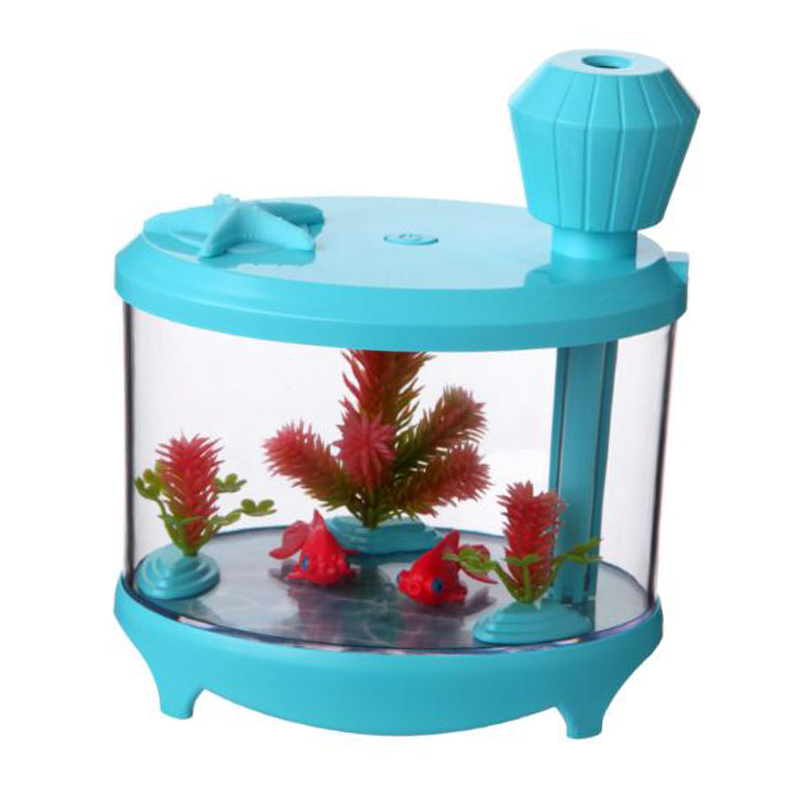 460ml Fish Tank USB Humidifiers LED Light Air Ultrasonic Humidifier Essential Aroma Diffuser Mist Maker For Home#
