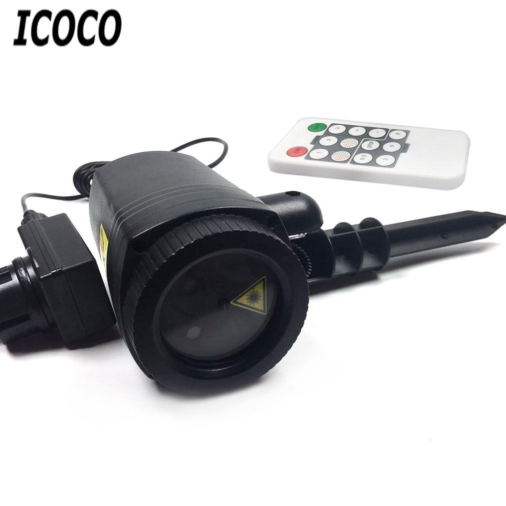 ICOCO Outdoor LED Lawn Lamp Laser Light Waterproof With Remote Control Party Yard Landscape Spot Light Garden Decorative Lights