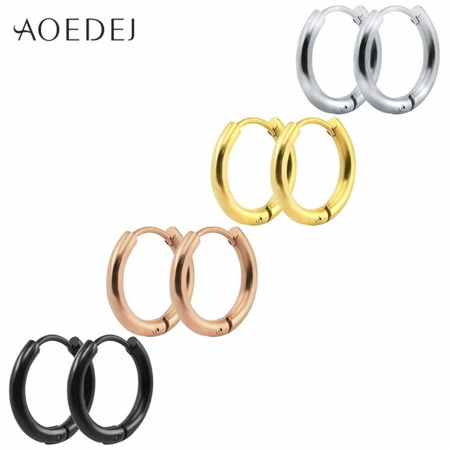 AOEDEJ Punk Gold Stainless Steel Hoop Earrings Huggie GD Bangtan Boys BTS Earrin