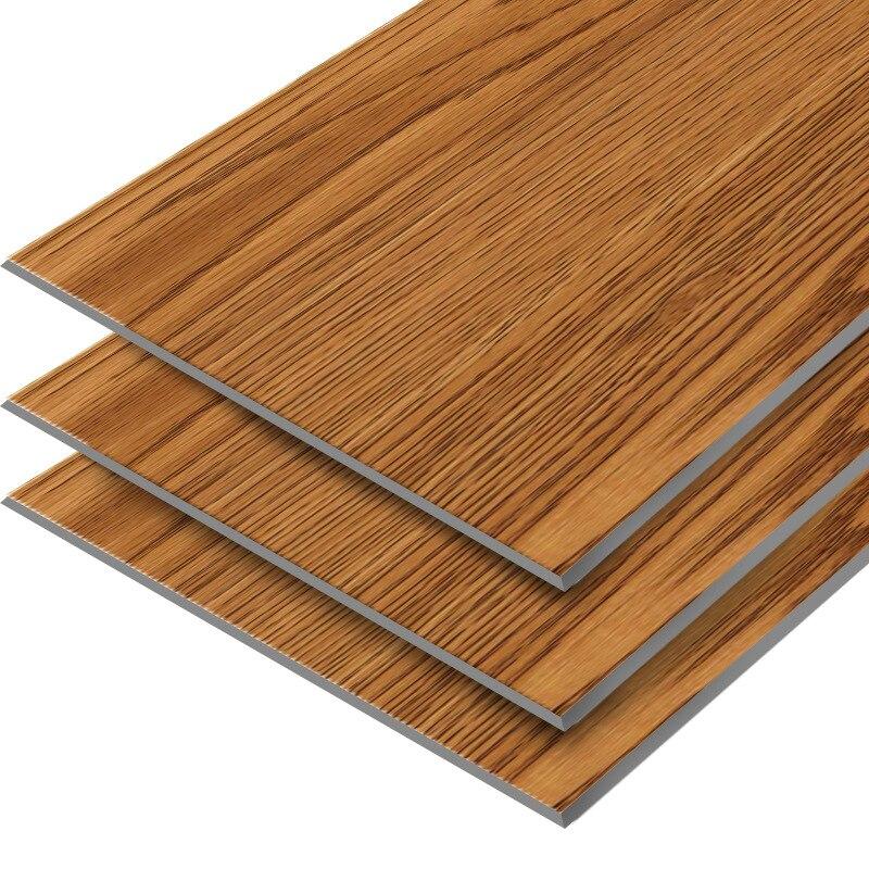 Autocollant en cuir de plancher auto-adhésif gris moderne Grain de bois PVC autocollants de sol résistant à l'usure pour la décoration de salon