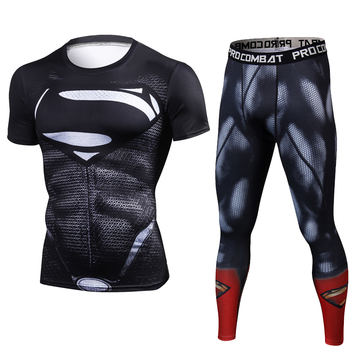 Winter Crossfit T-shirts Leggings Set 2 Piece Sports Run Tracksuit