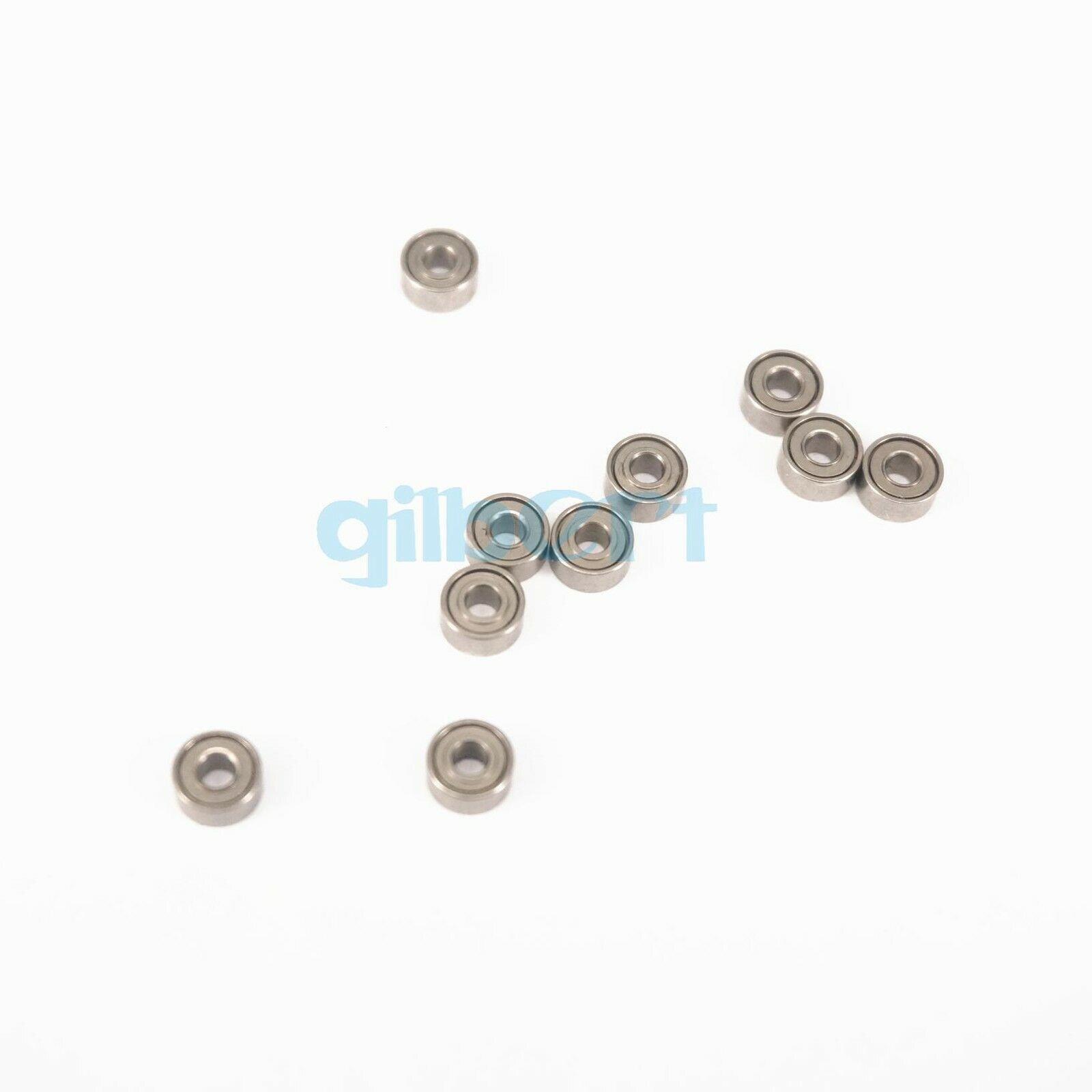 10pcs 1.5 X 4 X 2mm Micro Shielded Deep Groove Ball 681xZZ Model Radial Bearing