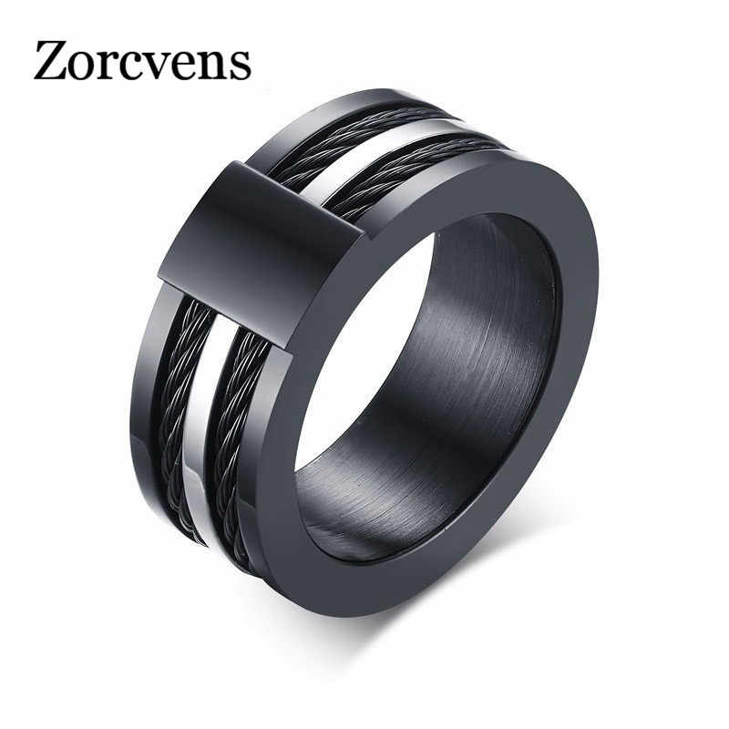 ZORCVENS Top Quality Stainless Steel Yawei Ring Black Charm Ring Men & Women Jewelry Free Shipping