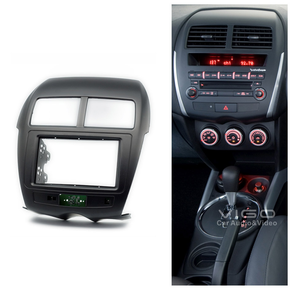 11 103 car radio facia for mitsubishi asx for peugeot for. Black Bedroom Furniture Sets. Home Design Ideas