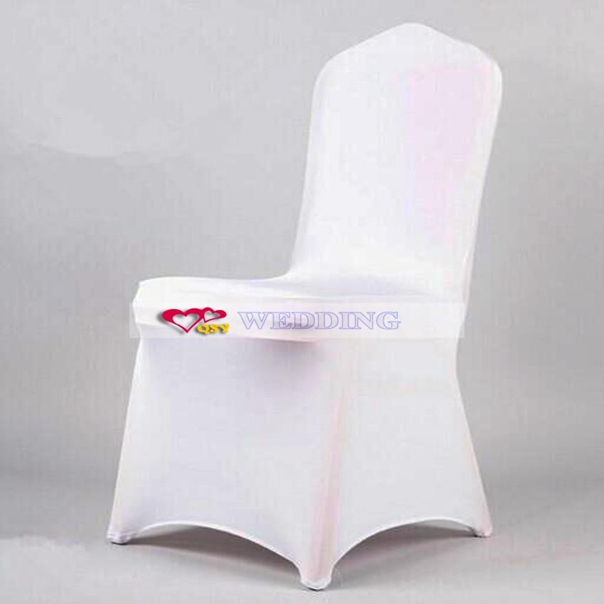 6 Witte Stoelhoezen.Wit Stoelhoezen Witte Bruiloft Decoratie Stoel Elastische Stof