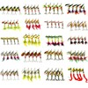 HENGJIA 10pcs Mixed Size Hard Metal Sequin Spinnerbait Fishing Lures Spoon Bait Fishing Tackle 20 Kinds
