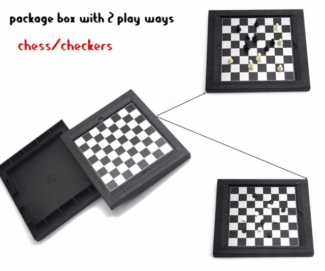 U3 8 in 1 Magnetic Board Game Folding Snake Ladders Game/Checkers/Chess/Backgammon Game Funny Educational Toys for Kids