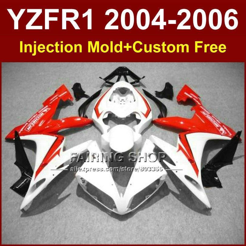 ᗕCustom carenado de inyección para Yamaha R1 2004 2005 2006 YZF R1 ...