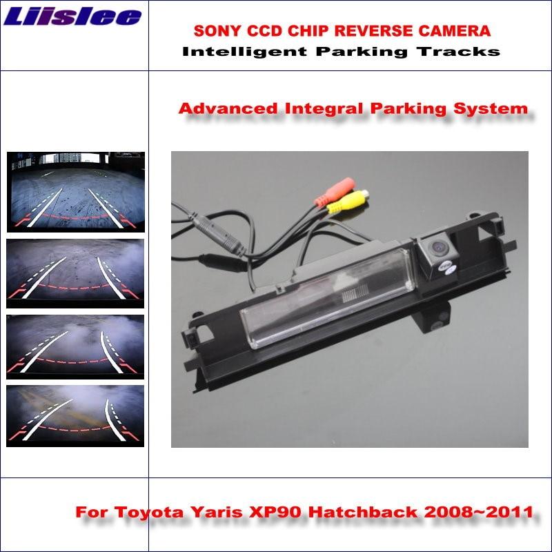 Liislee Intelligent Parking Rear Camera For Toyota Yaris XP90 Hatchback 2008~2011 / NTSC RCA AUX HD SONY CCD Backup Camera цена 2017
