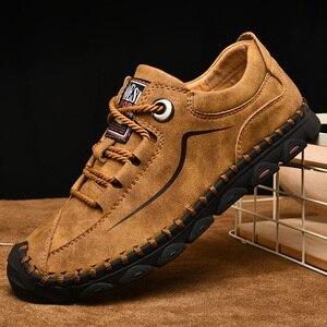 Image 5 - 남성 가죽 신발 빈티지 캐주얼 신발 2019 새로운 도착 수제 남성 drving 플랫 남성 신발 캐주얼 남성 로퍼