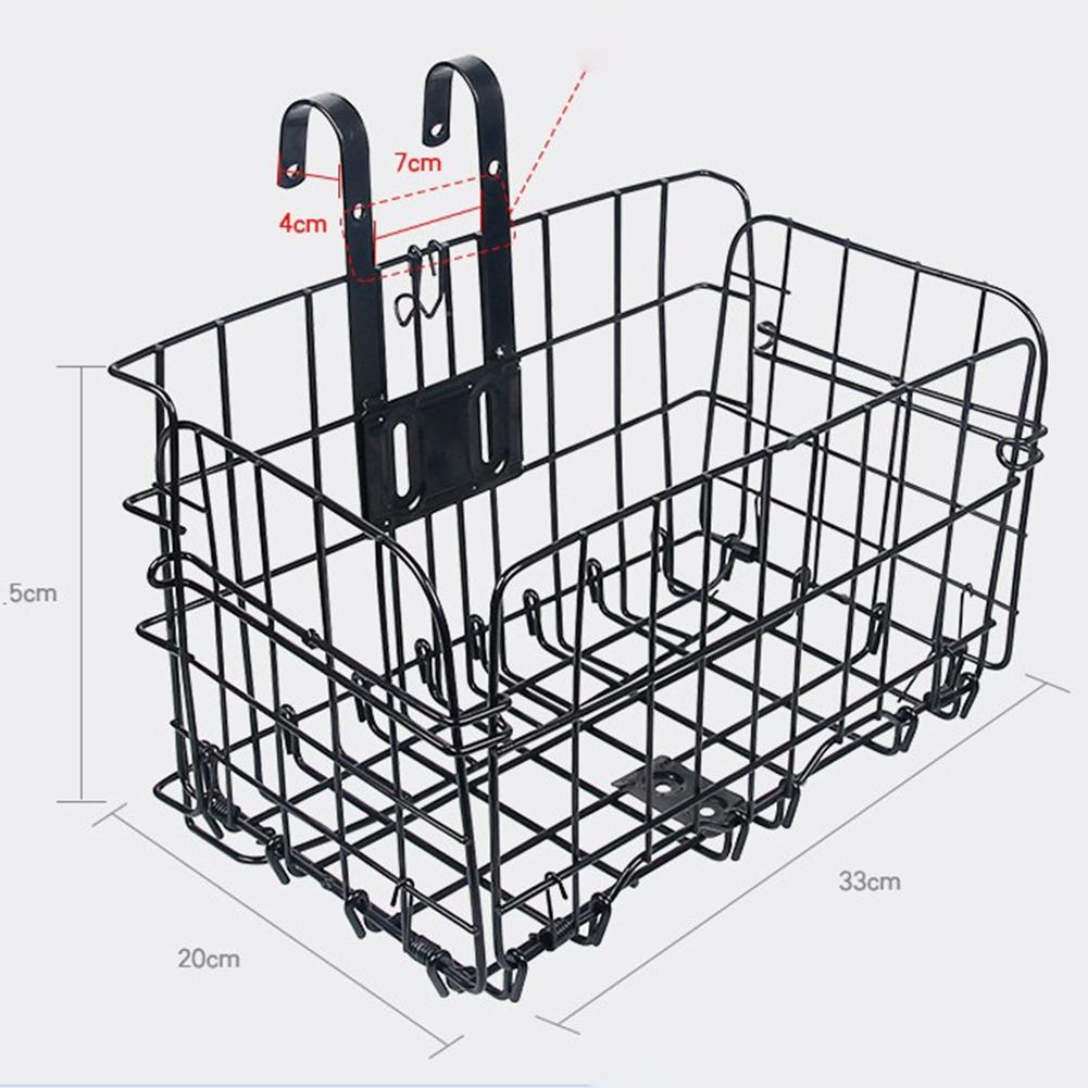 Bike Basket Big W Us 29 33 Mounchain Big Cuboid Folding Steel Wire Front Basket Bike Accessories Mountain Bike Commuter Car In Bicycle Bags Panniers From Sports