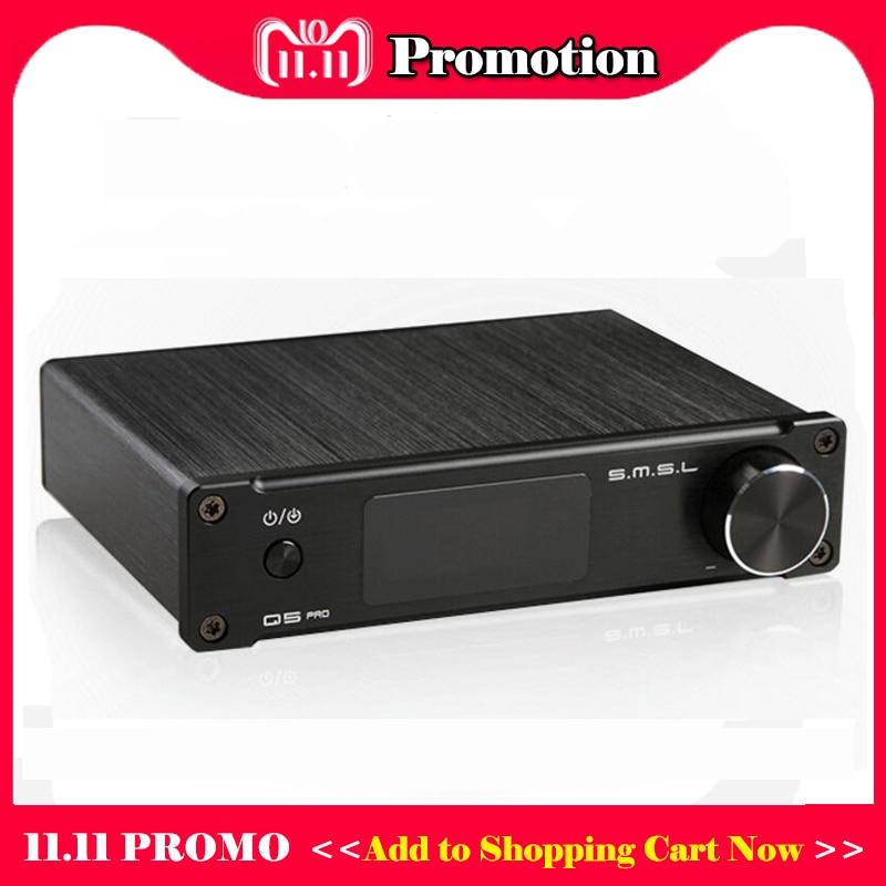 SMSL Q5 Pro USB DAC Amp Hifi Pure Digital Power Amplifier Audio Mini Portable Amplifiers Subwoofer output Preamp Amplificador fx audio fx98s pro desktop dac audio subwoofer amplifier usb dac pcm2704 max9722 amplifiers hifi power amplifier