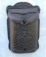 Standing Cast Iron Mailbox Wrought Iron Letter Box Metal Postbox Mail Box Garden Decor