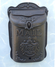 Standing Cast Iron Mailbox/ Wrought Iron Letter Box Metal Postbox, Mail box Garden decor 1 200x90x200 mm die cast iron box amplifier enclosure steel white extrusion diy industrial metal box enclosures
