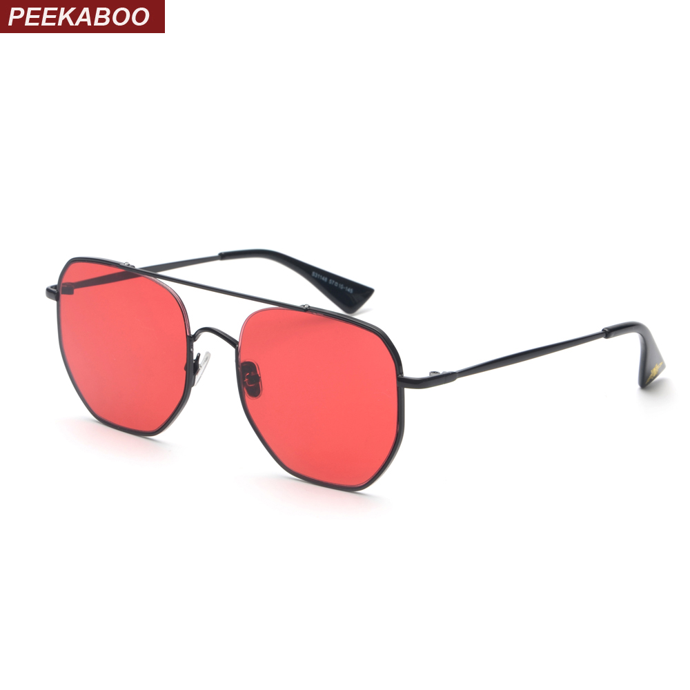 Peekaboo half metal high quality sunglasses men women brand 2018 ...