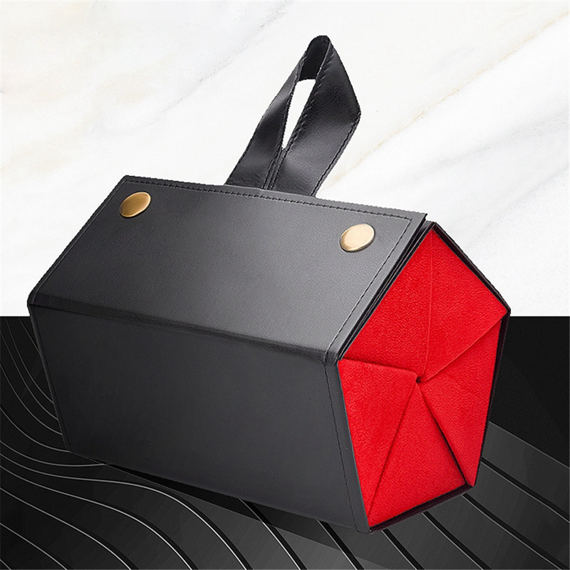Image 5 - Women 5 Storage Space Sunglasses Tray Black Red Fashion Pu Leather Roll Eyeglasses Case Display Box-in Eyewear Accessories from Apparel Accessories