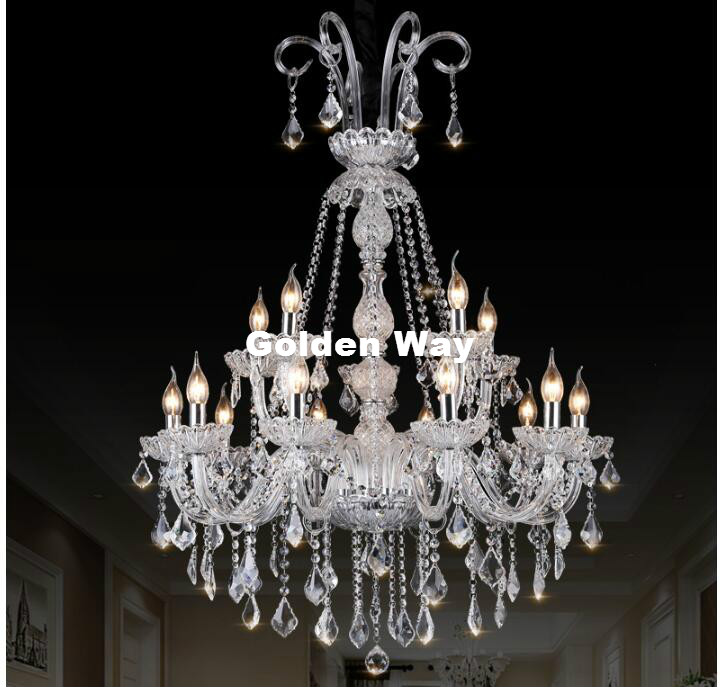 Free Shipping Modern Chandelier Stair Long Candle Crystal Chandelier Fixture Staircase Lighting Stairs Long Hanging Chandelier