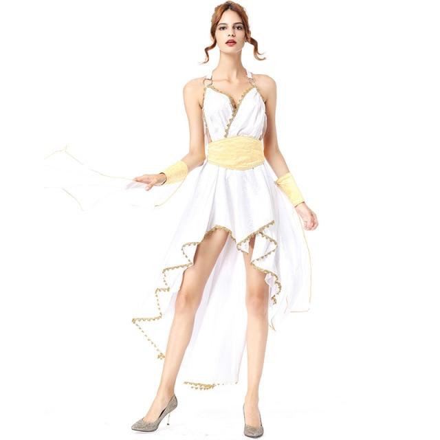 Womenu0027s Egyptian Goddess Costume Dress Greek Princess Gown Irregular Off Shoulder Egyptian Stagewear Halloween Costume For  sc 1 st  AliExpress.com & Womenu0027s Egyptian Goddess Costume Dress Greek Princess Gown Irregular ...